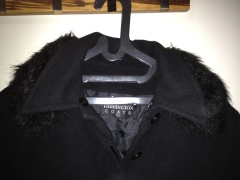 Detachable fur collar