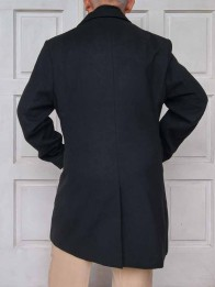 back black long coat