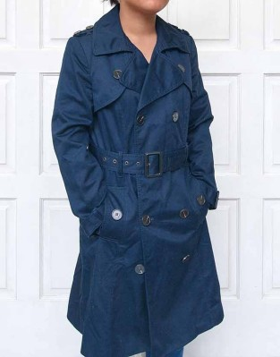 Ladies Blue Trenchcoat